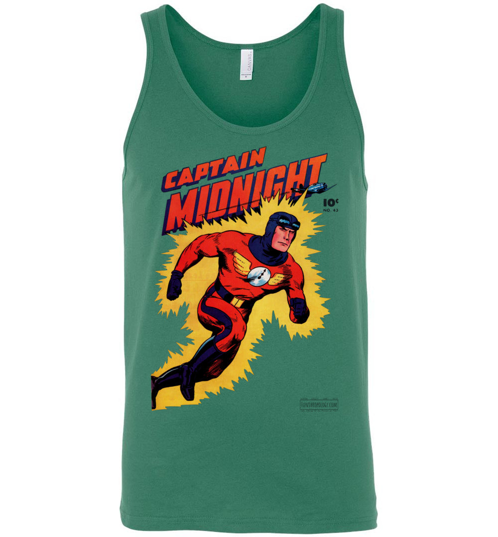 Captain Midnight No.43 Tank Top (Unisex, Light Colors)