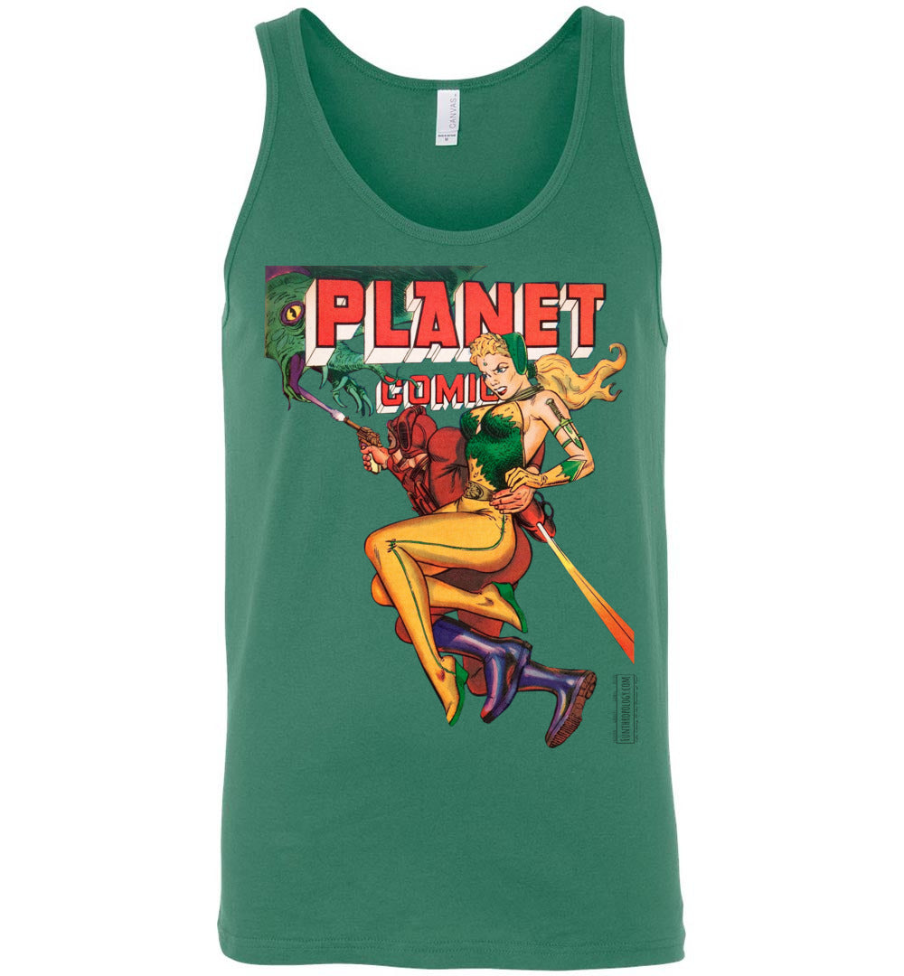 Planet Comics No.66 Tank Top (Unisex, Light Colors)
