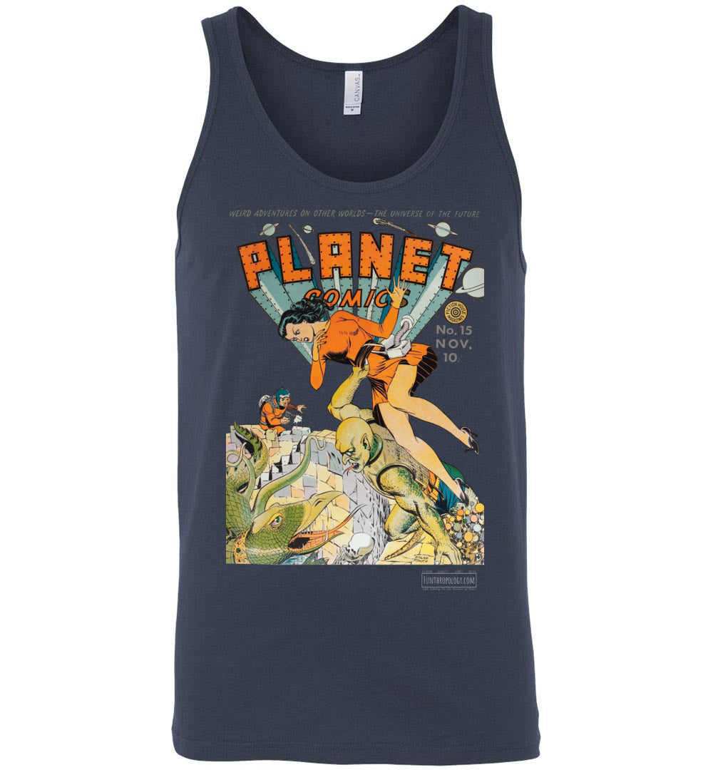 Planet Comics No.15 Tank Top (Unisex, Dark Colors)