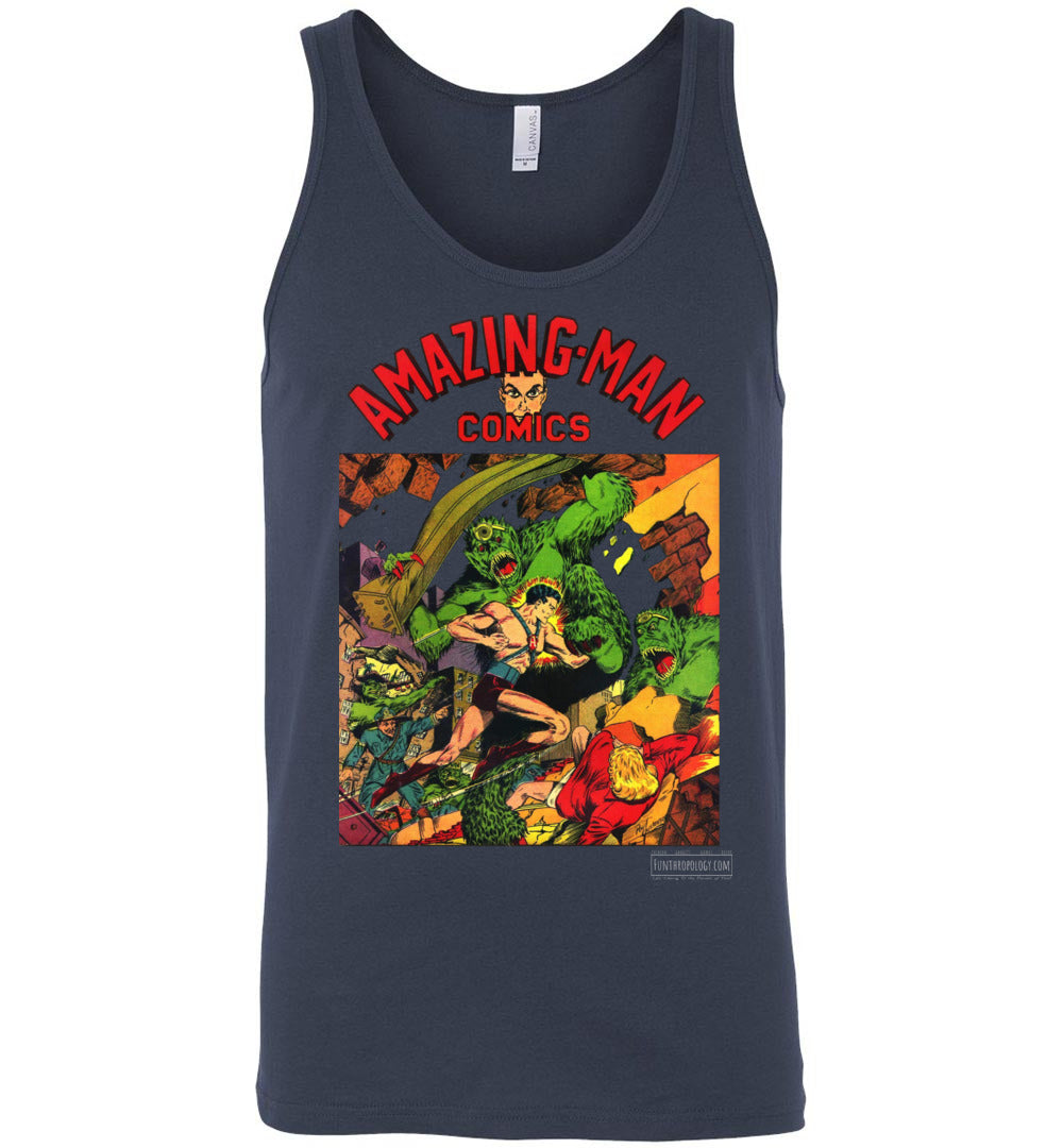 Amazing-Man Comics No.22 Tank Top (Unisex, Dark Colors)