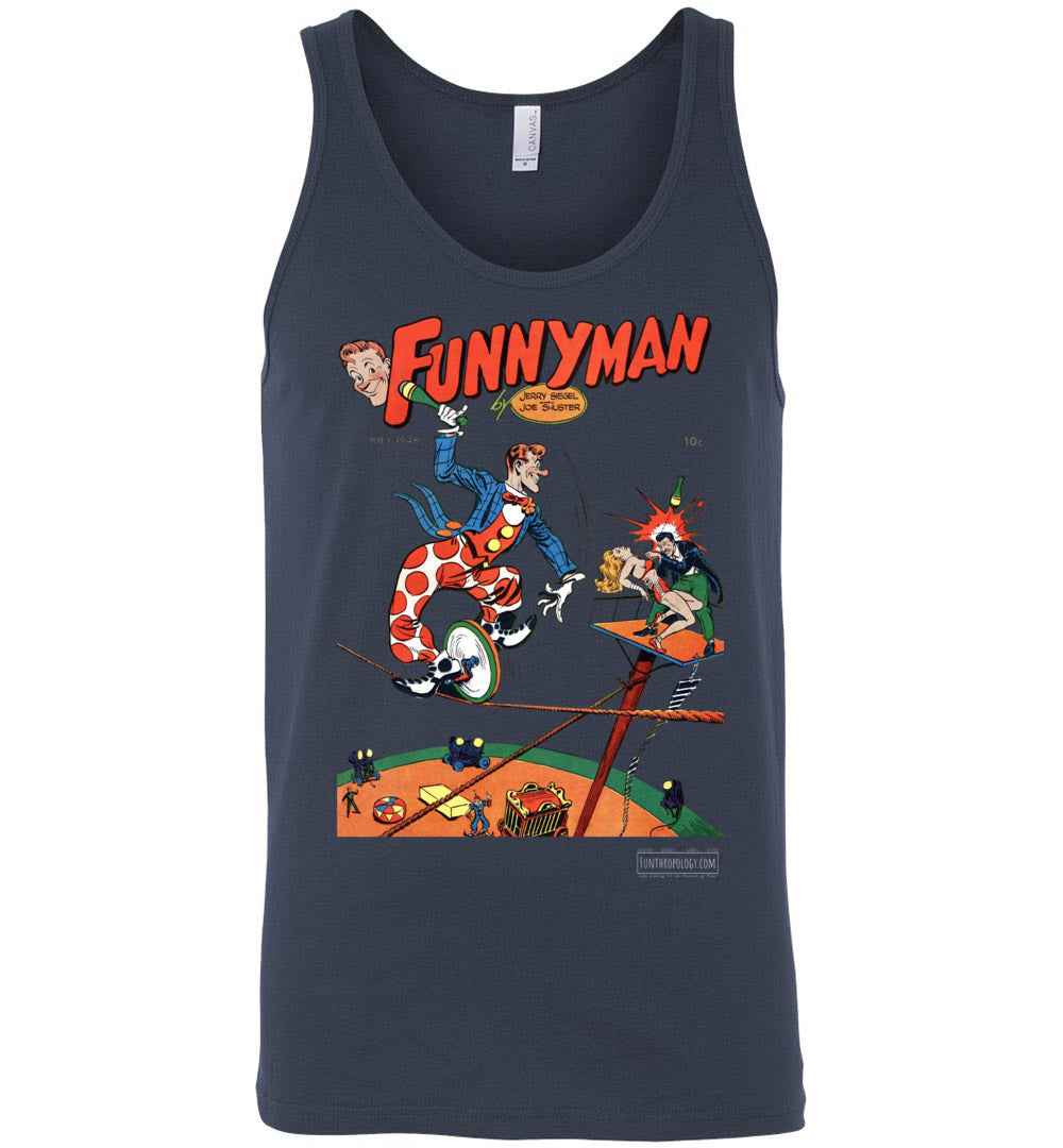 Funnyman No.5 Tank Top (Unisex, Dark Colors)