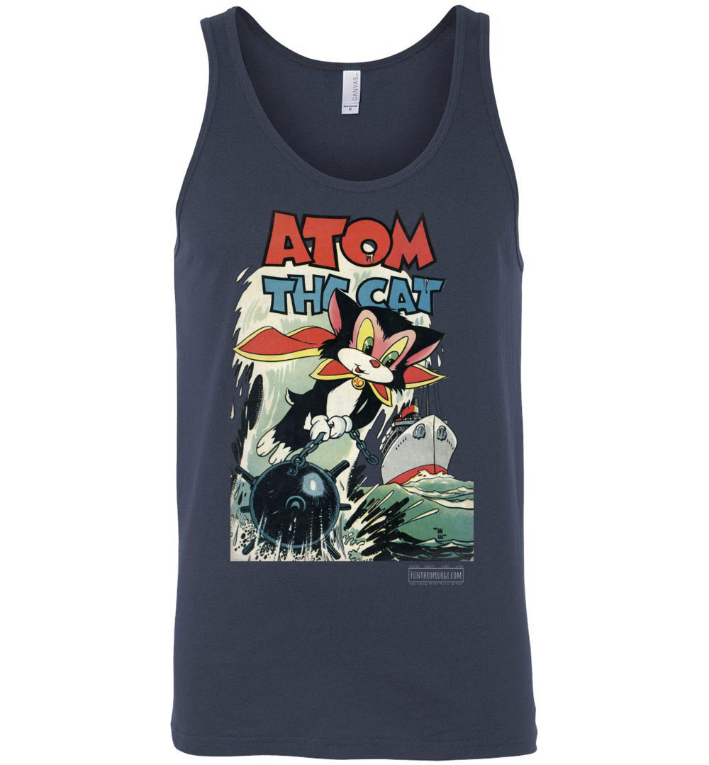 Atom The Cat No.10 Tank Top (Unisex, Dark Colors)