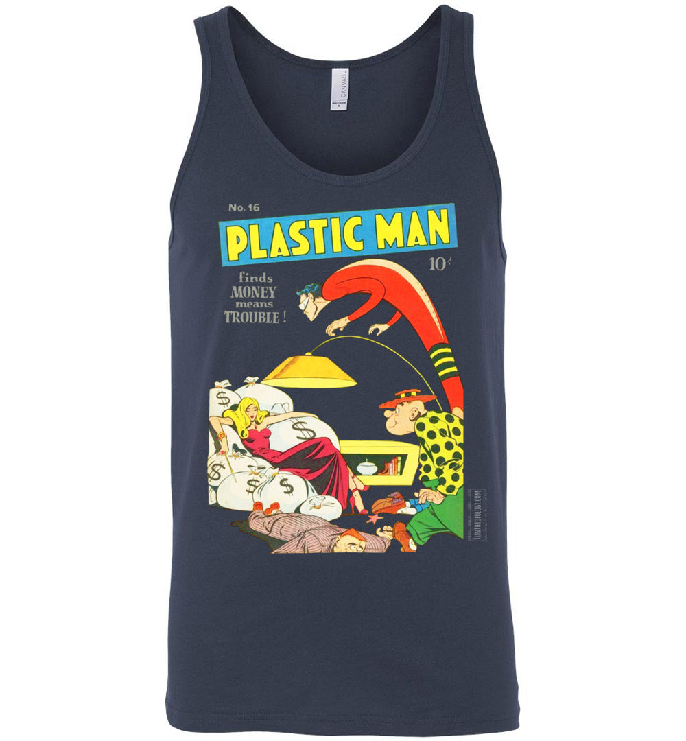 Plastic Man No.16 Tank Top (Unisex, Dark Colors)