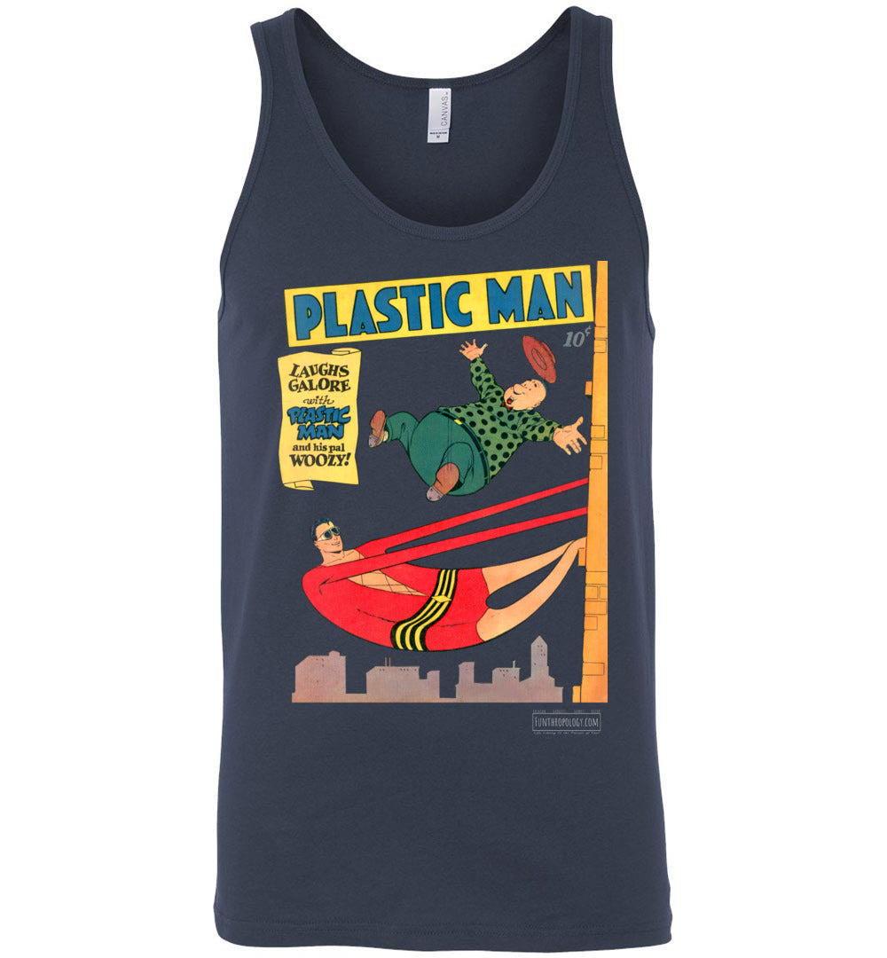 Plastic Man No.4 Tank Top (Unisex, Dark Colors)