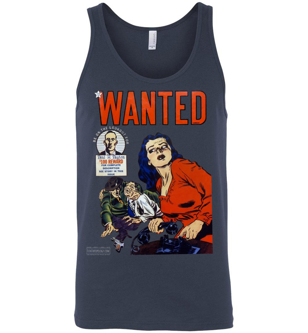 Wanted Comics No.28 Tank Top (Unisex, Dark Colors)