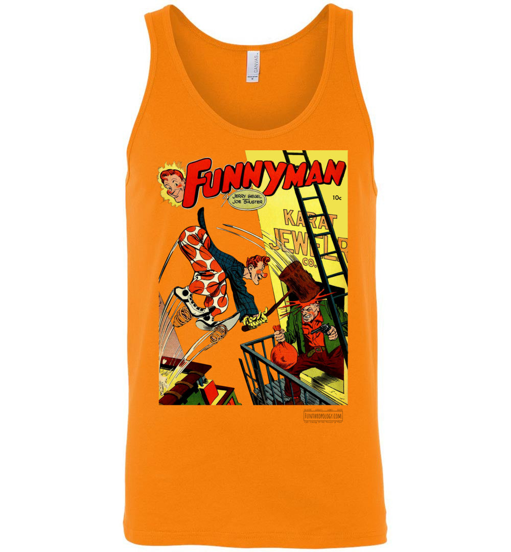 Funnyman No.3 Tank Top (Unisex, Light Colors)