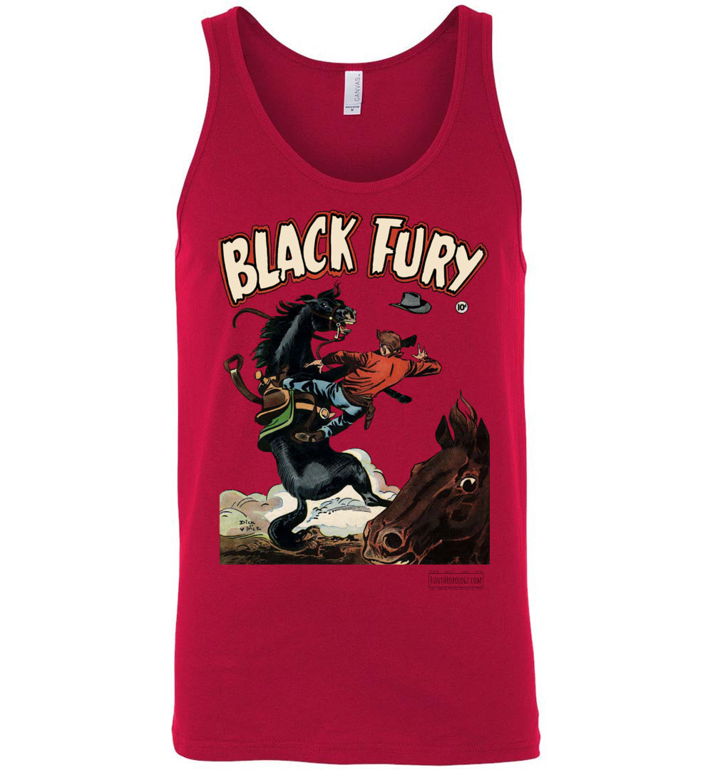 Black Fury No.4 Tank Top (Unisex, Light Colors)