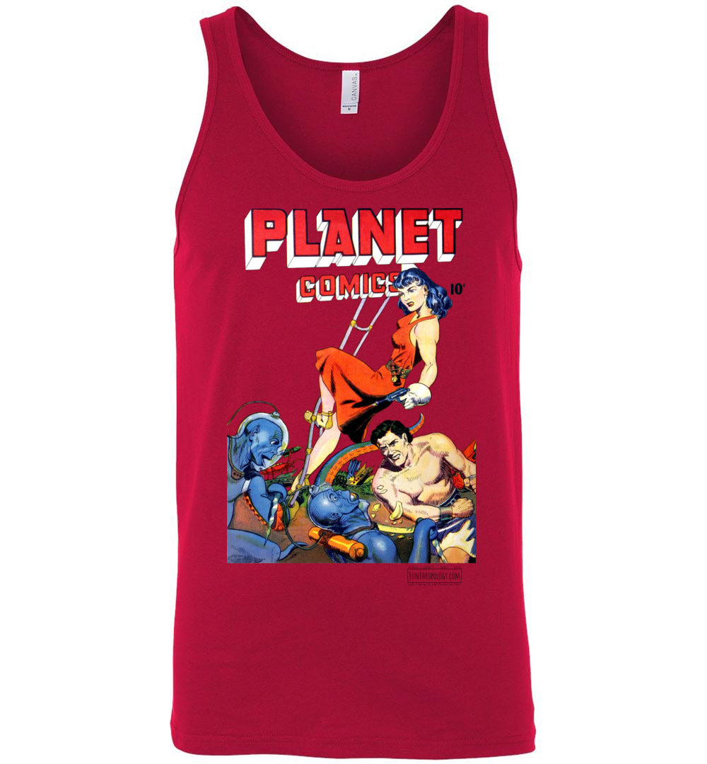 Planet Comics No.62 Tank Top (Unisex, Light Colors)