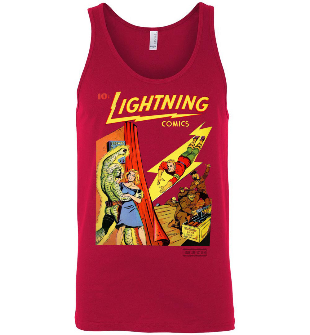 Lightning Comics No.1.6 Tank Top (Unisex, Light Colors)