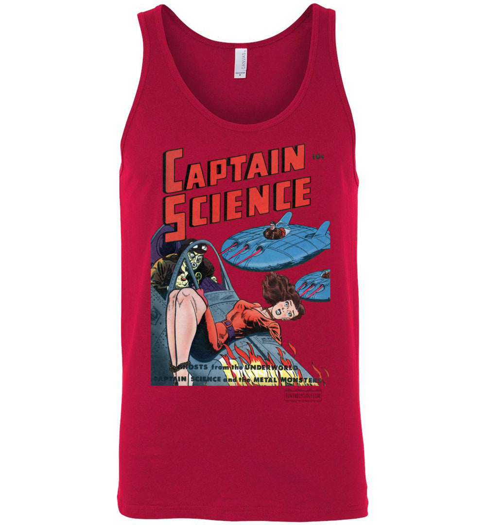 Captain Science No.3 Tank Top (Unisex, Light Colors)