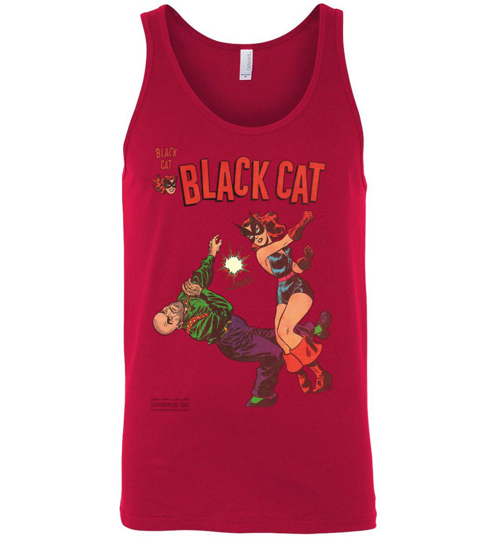 Black Cat No.4 Tank Top (Unisex, Light Colors)