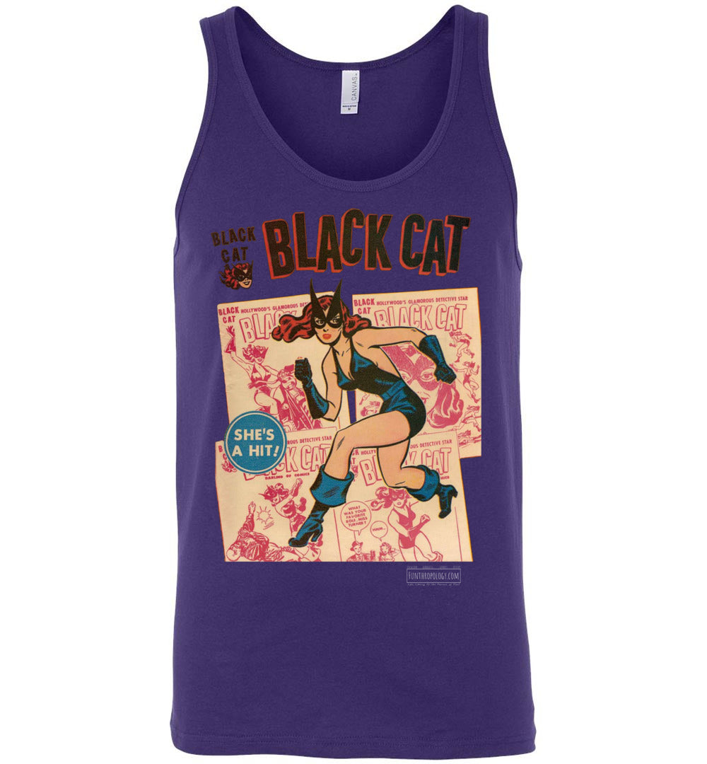 Black Cat No.6 Tank Top (Unisex, Dark Colors)