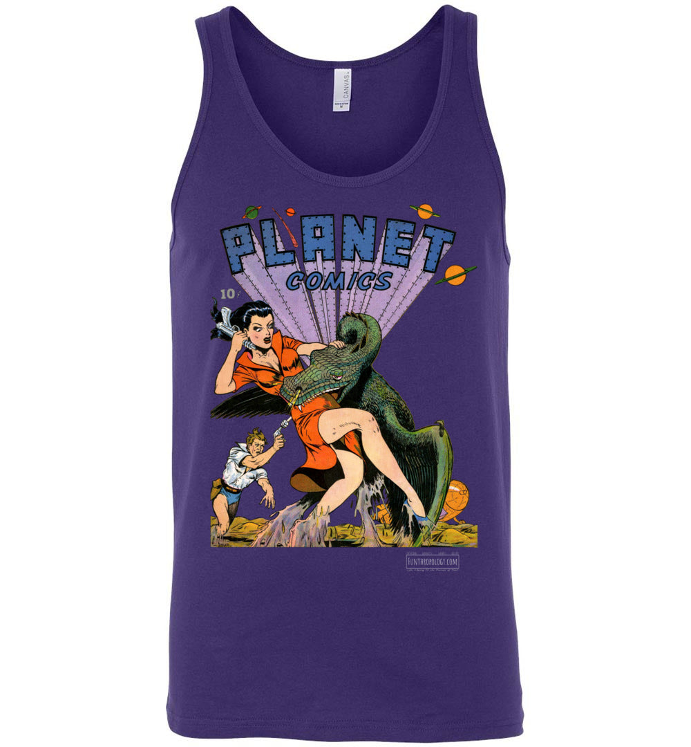 Planet Comics No.20 Tank Top (Unisex, Dark Colors)