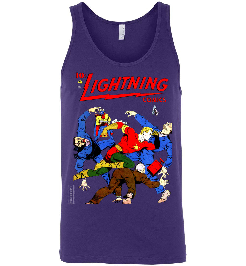 Lightning Comics No.2.4 Tank Top (Unisex, Dark Colors)