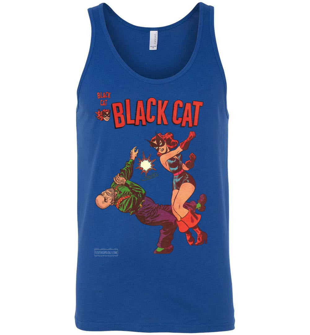 Black Cat No.4 Tank Top (Unisex, Dark Colors)
