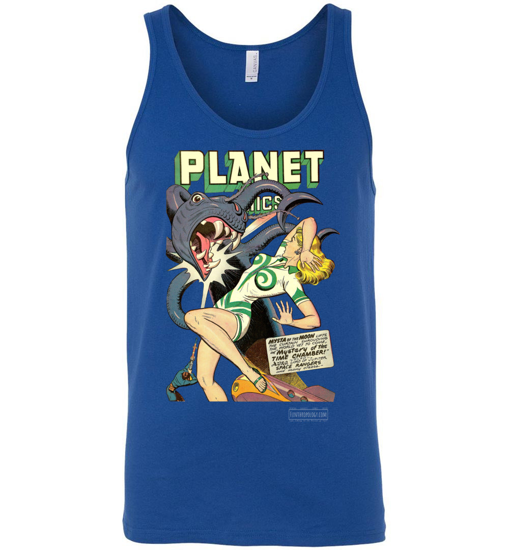 Planet Comics No.52 Tank Top (Unisex, Dark Colors)