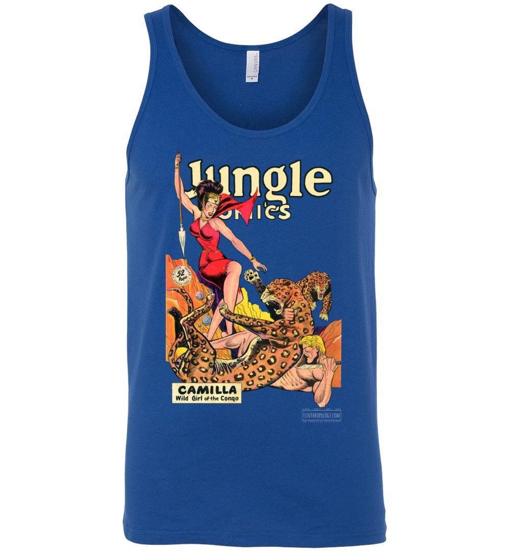 Jungle Comics No.105 Tank Top (Unisex, Dark Colors)