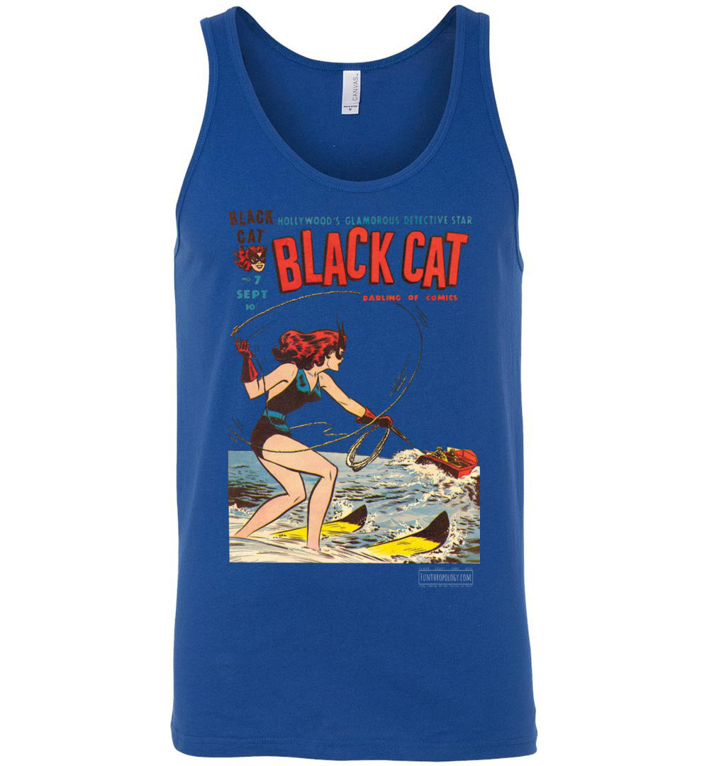 Black Cat No.7 Tank Top (Unisex, Dark Colors)