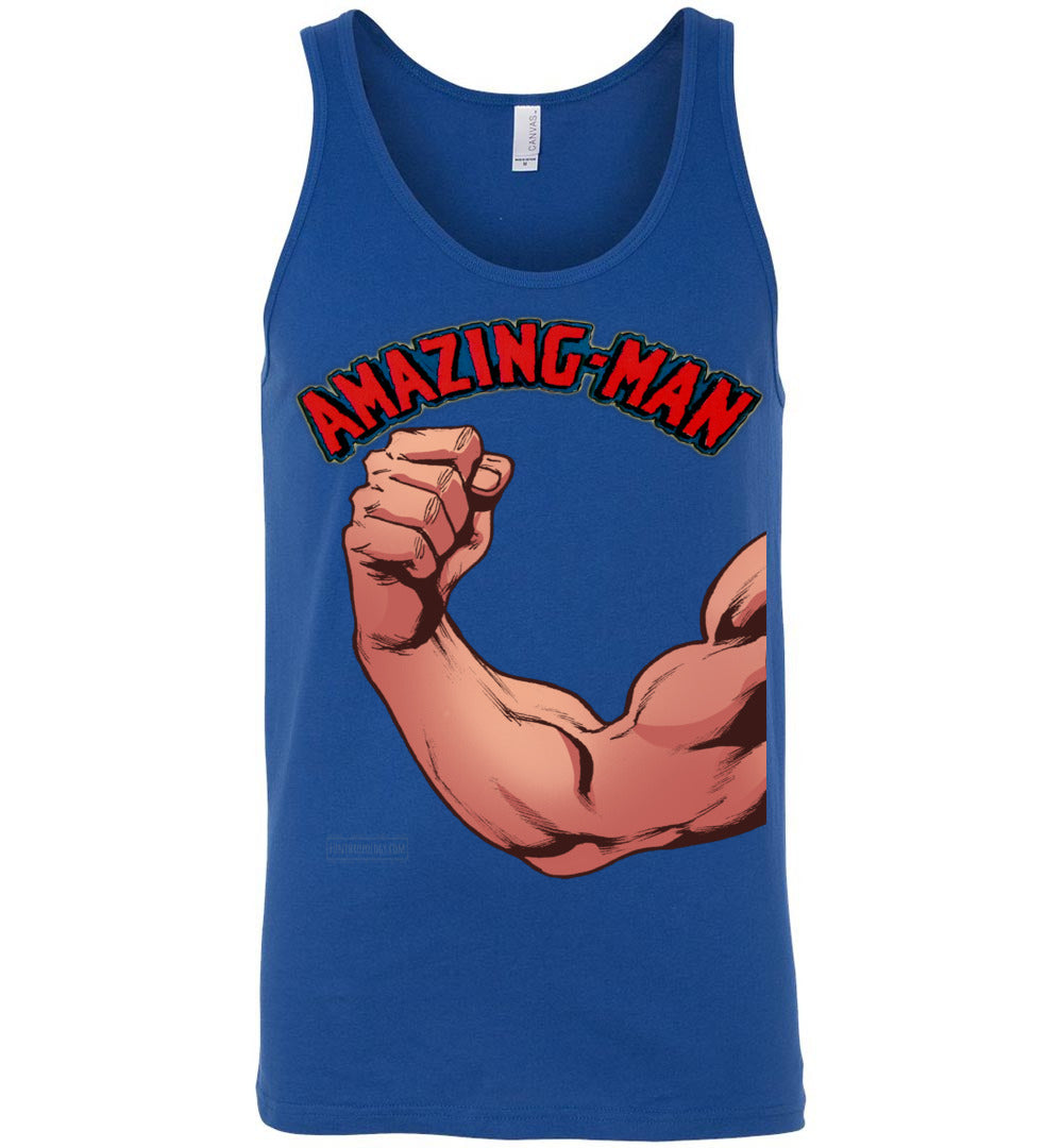 Amazing-Man Strength Tank Top (Unisex, Dark Colors)