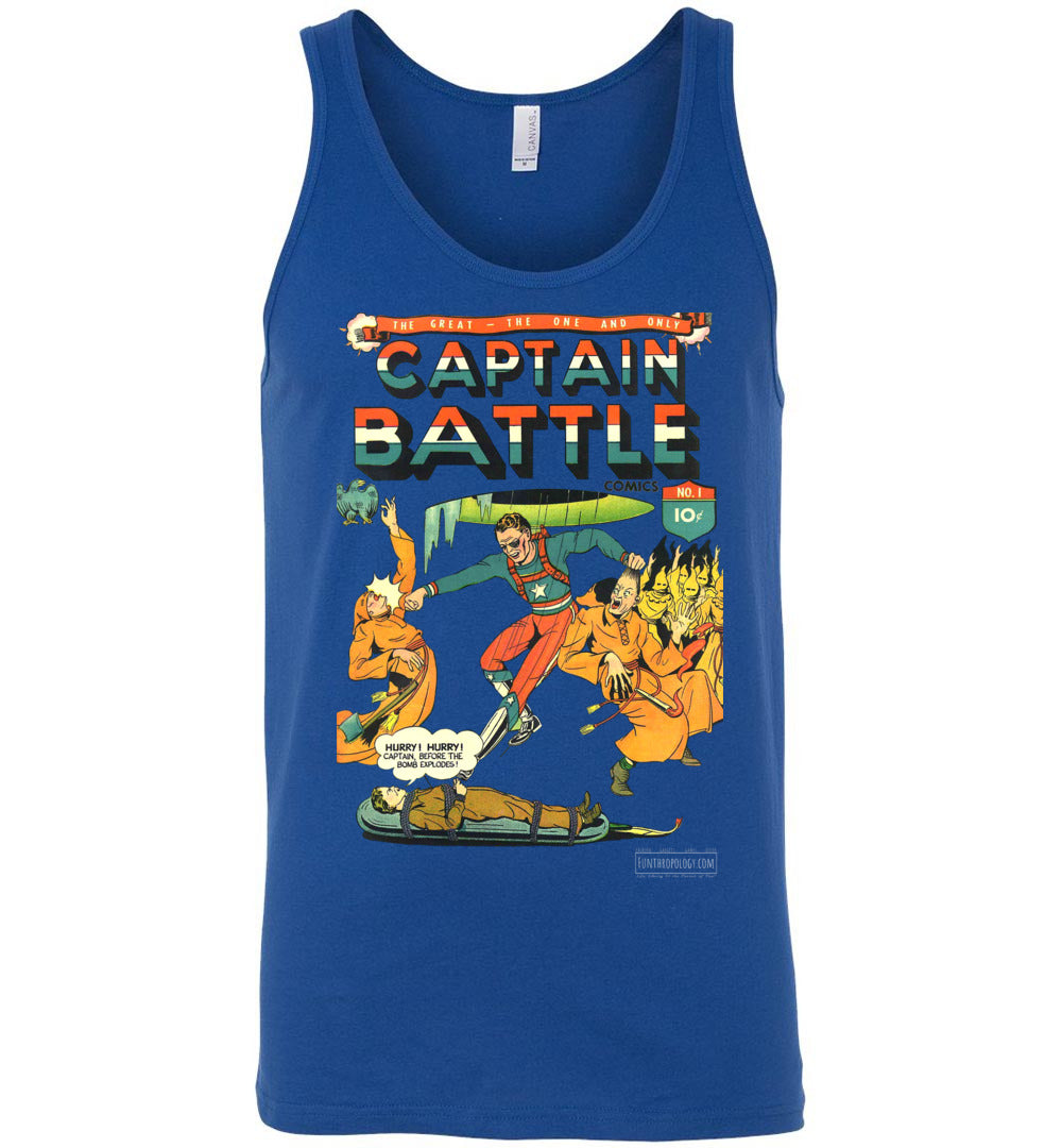 Captain Battle No.1 Tank Top (Unisex, Dark Colors)