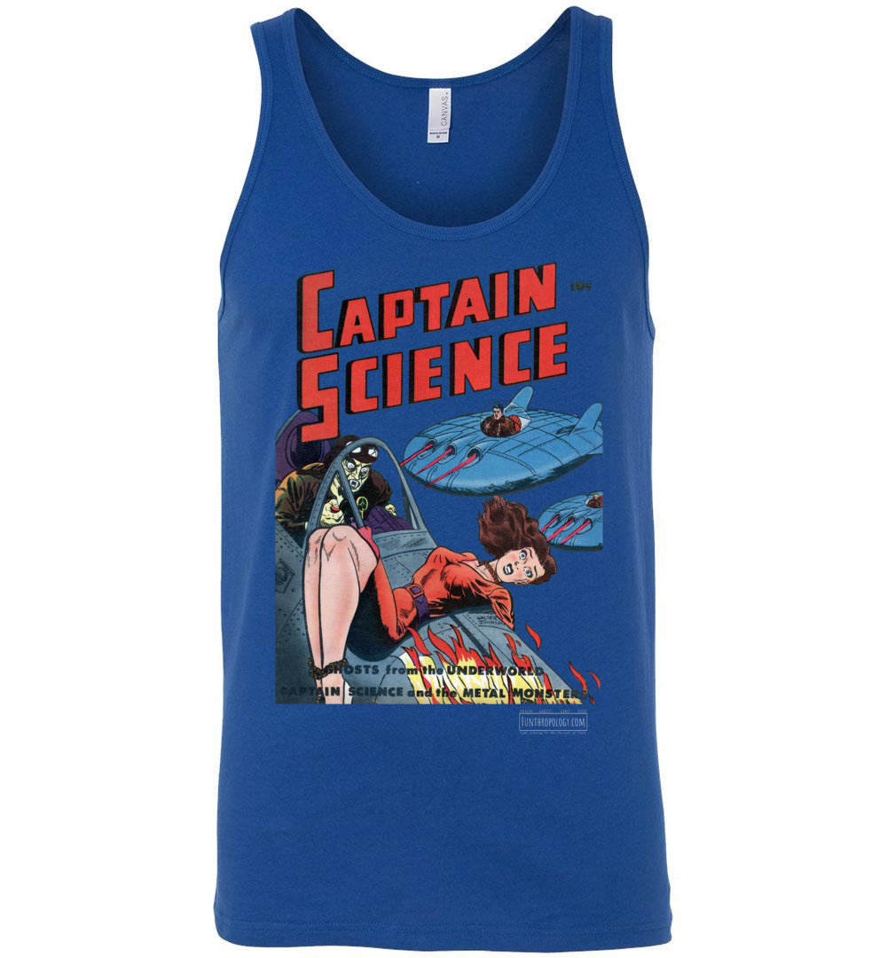Captain Science No.3 Tank Top (Unisex, Dark Colors)