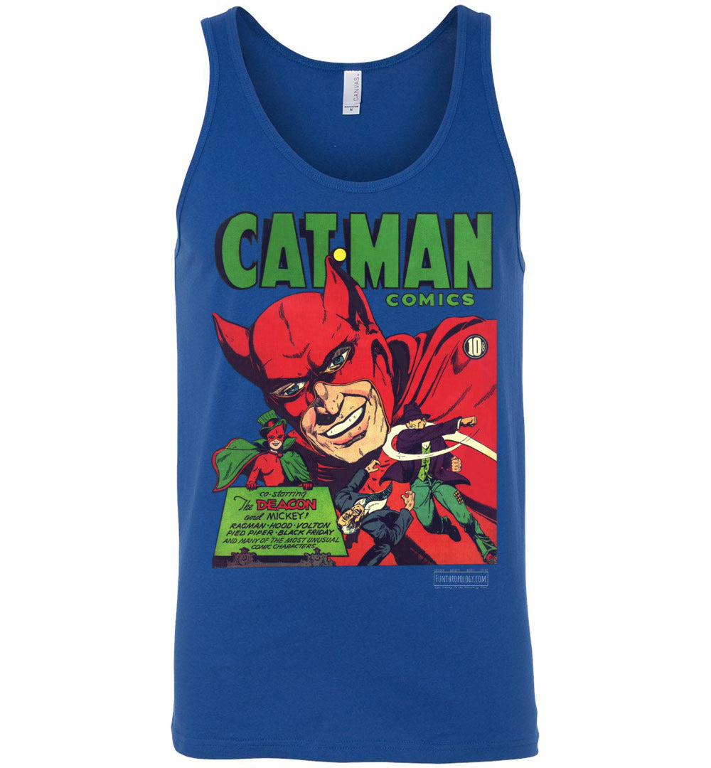 Cat-Man No.10 Tank Top (Unisex, Dark Colors)