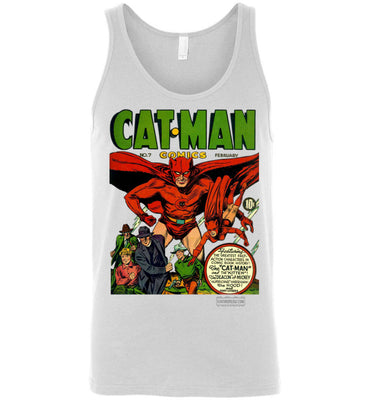 Cat-Man No.7 Tank Top (Unisex, Light Colors)