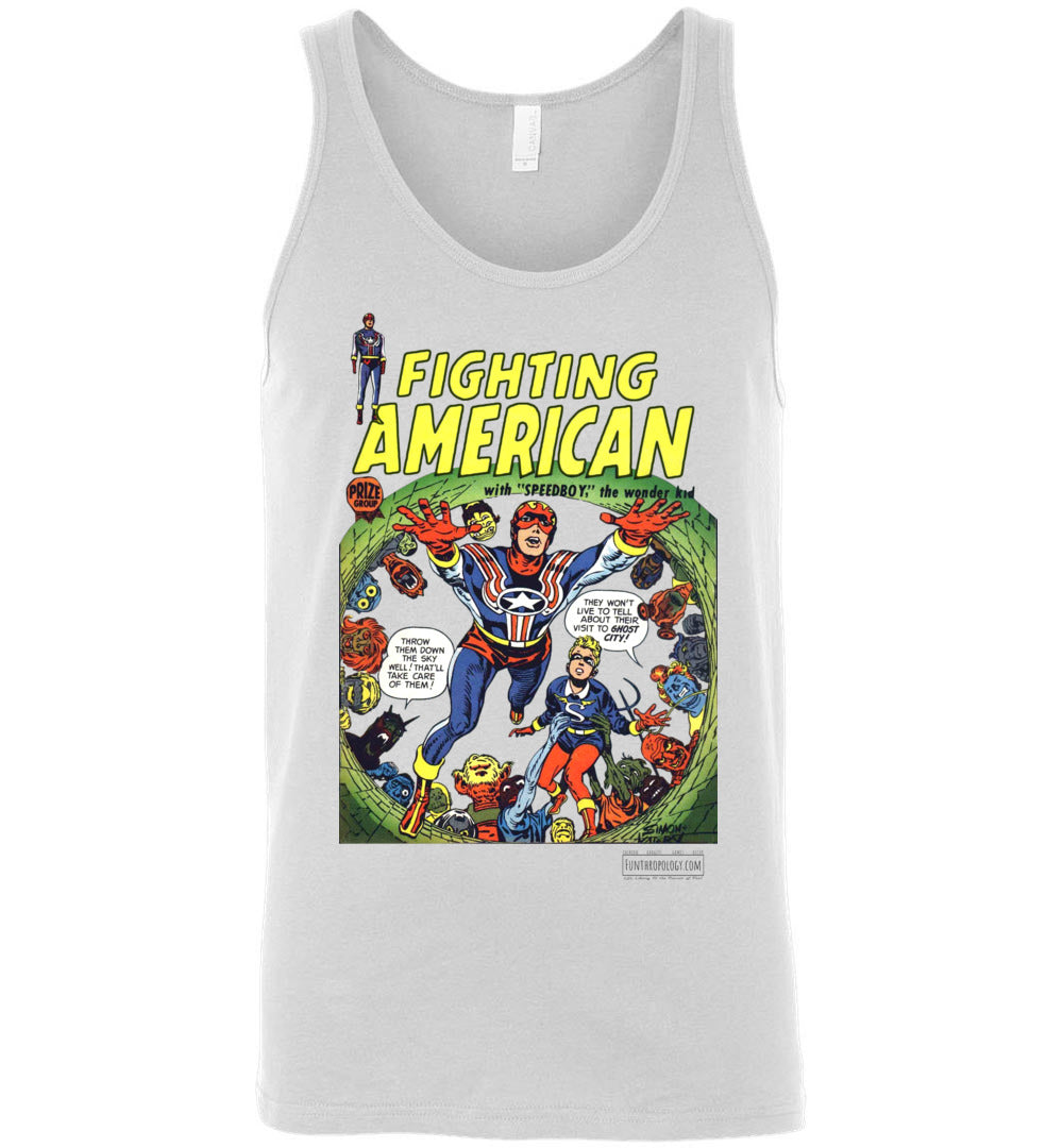Fighting American No.2 Tank Top (Unisex, Light Colors)