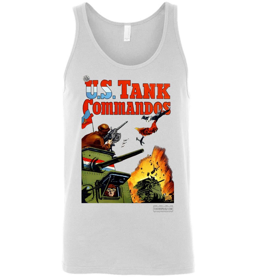 US Tank Commandos No.1 Tank Top (Unisex, Light Colors)