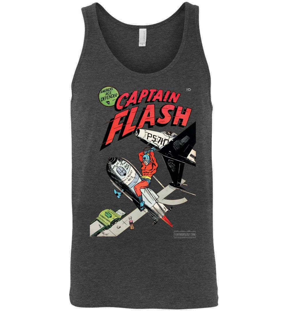Captain Flash No.1 Tank Top (Unisex, Dark Colors)