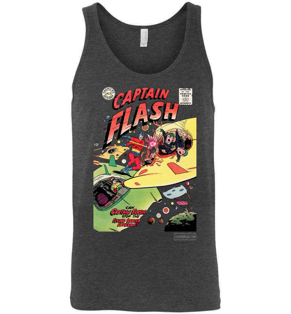 Captain Flash No.4 Tank Top (Unisex, Dark Colors)