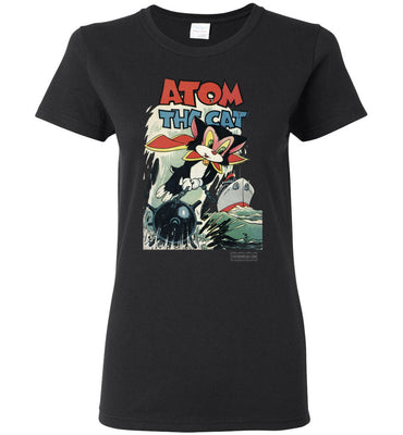 Atom The Cat No.10 T-Shirt (Womens, Dark Colors)