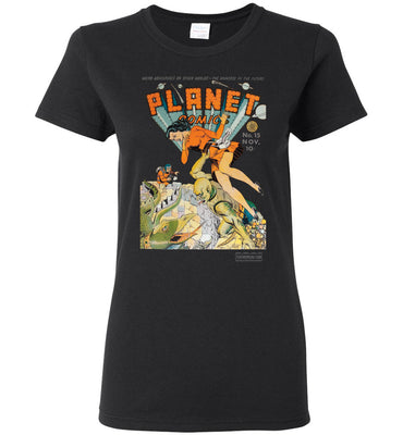 Planet Comics No.15 T-Shirt (Womens, Dark Colors)