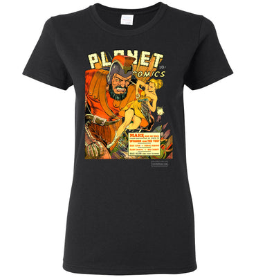 Planet Comics No.16 T-Shirt (Womens, Dark Colors)