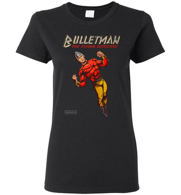 Bulletman Reimagined T-Shirt (Womens, Dark Colors)