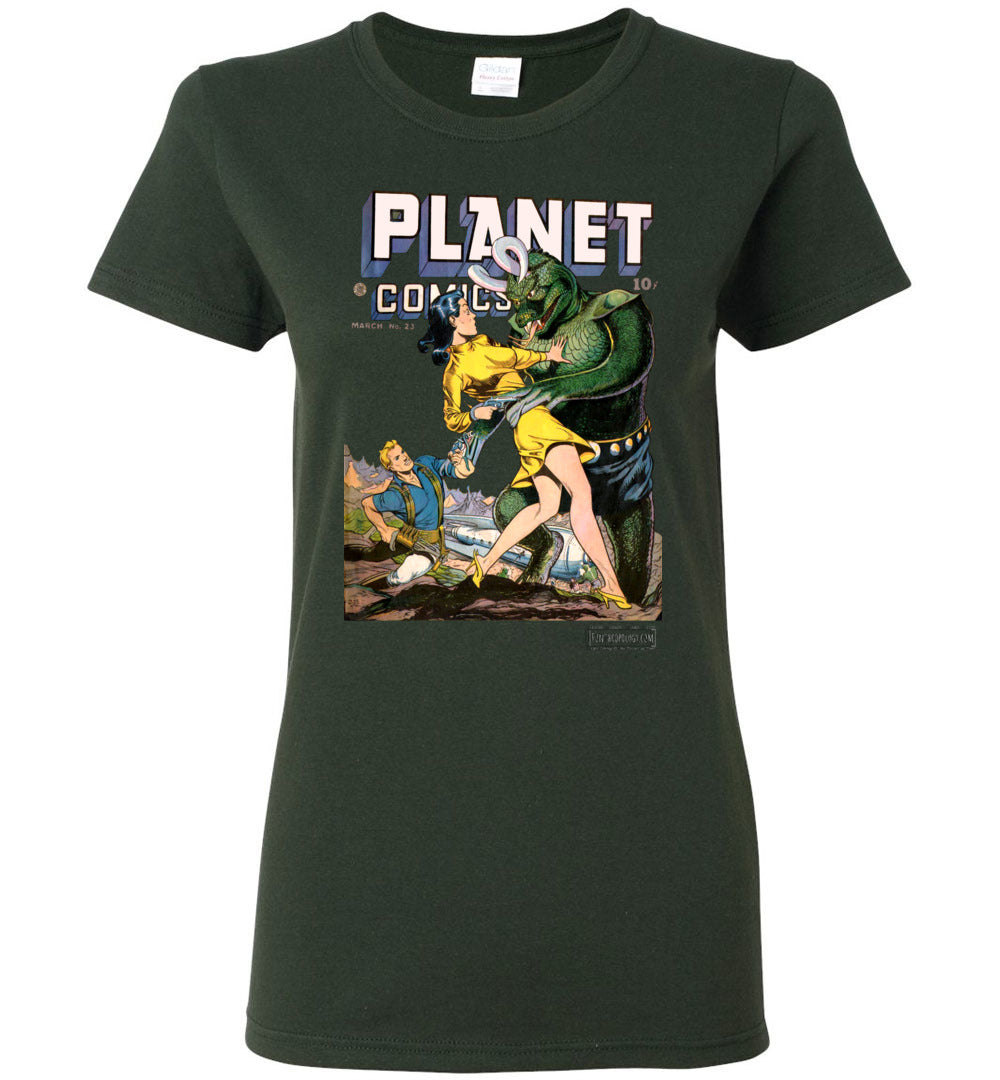 Planet Comics No.23 T-Shirt (Womens, Dark Colors)