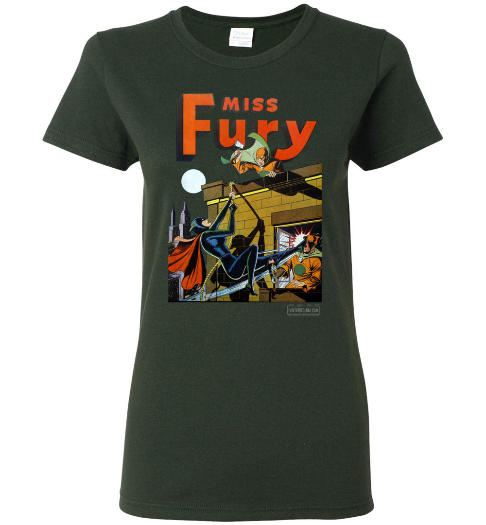 Miss Fury No.2 T-Shirt (Womens, Dark Colors)