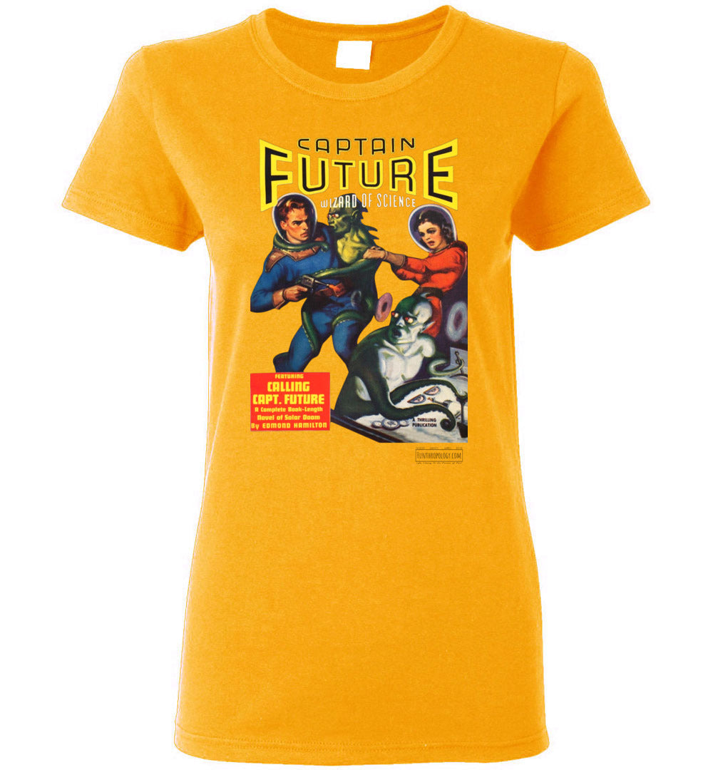 Captain Future No.2 T-Shirt (Womens, Light Colors)