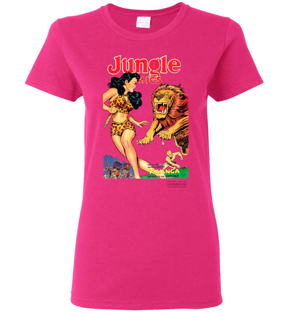 Jungle Comics No.135 T-Shirt (Womens, Light Colors)