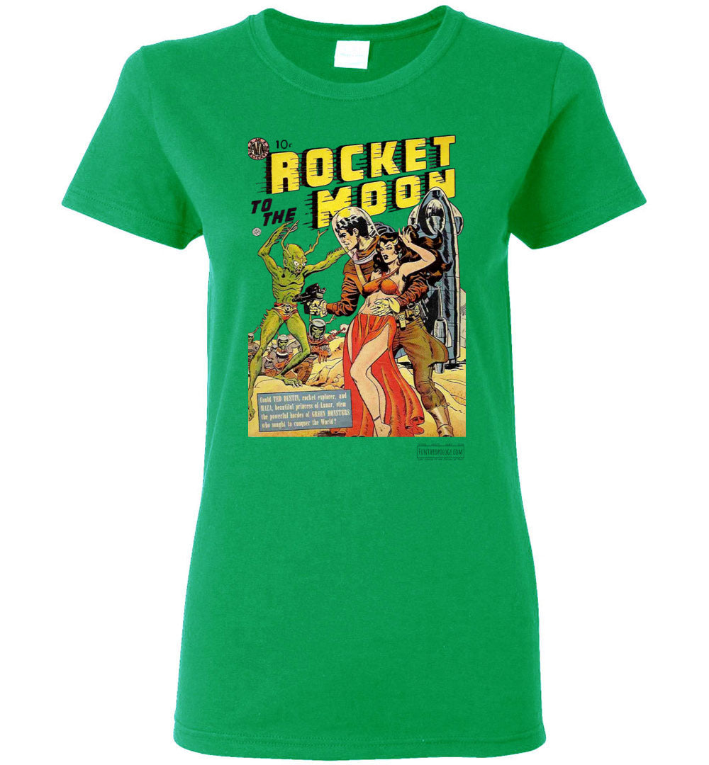 Rocket To The Moon No.1 T-Shirt (Womens, Light Colors)
