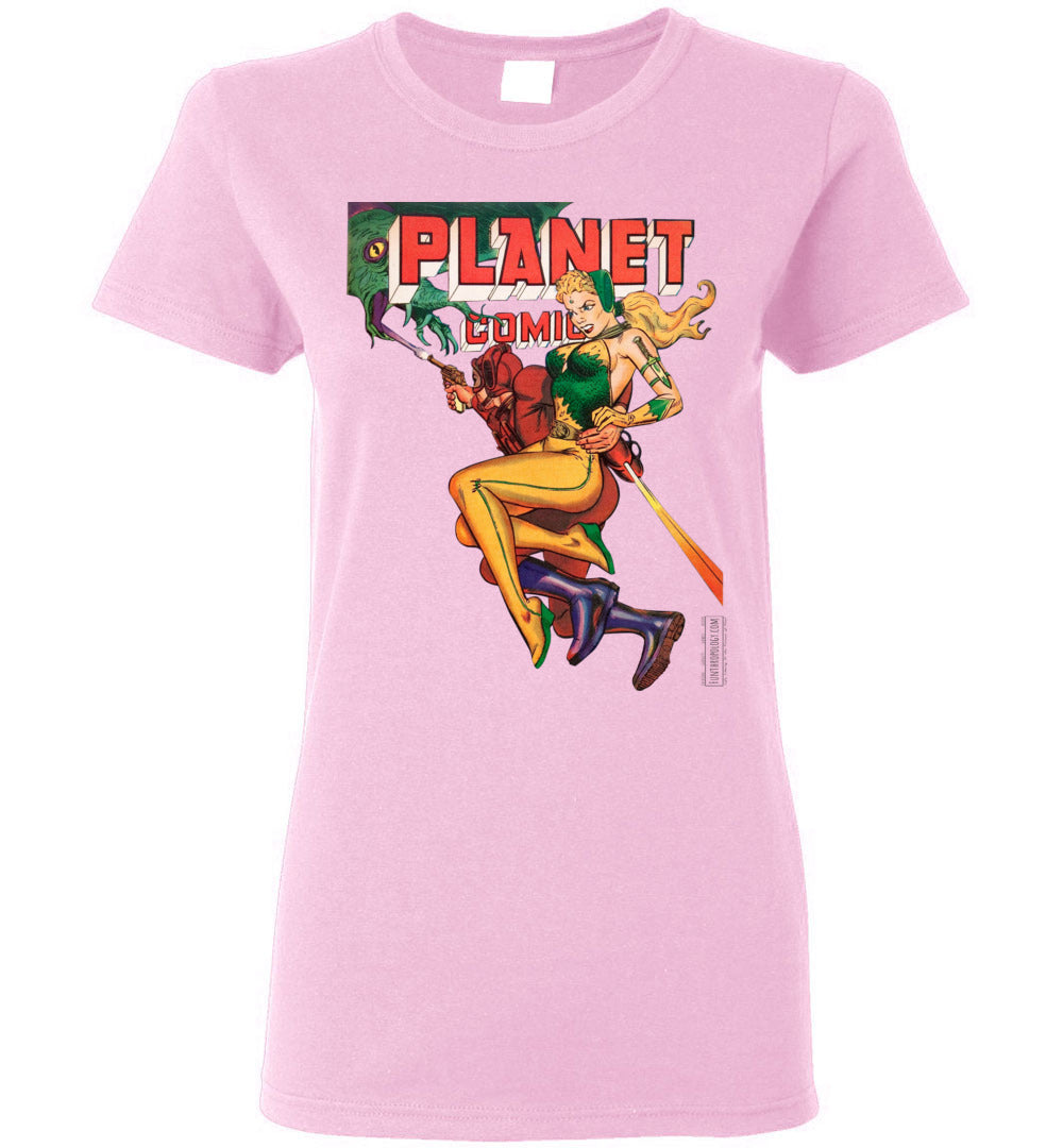 Planet Comics No.66 T-Shirt (Womens, Light Colors)