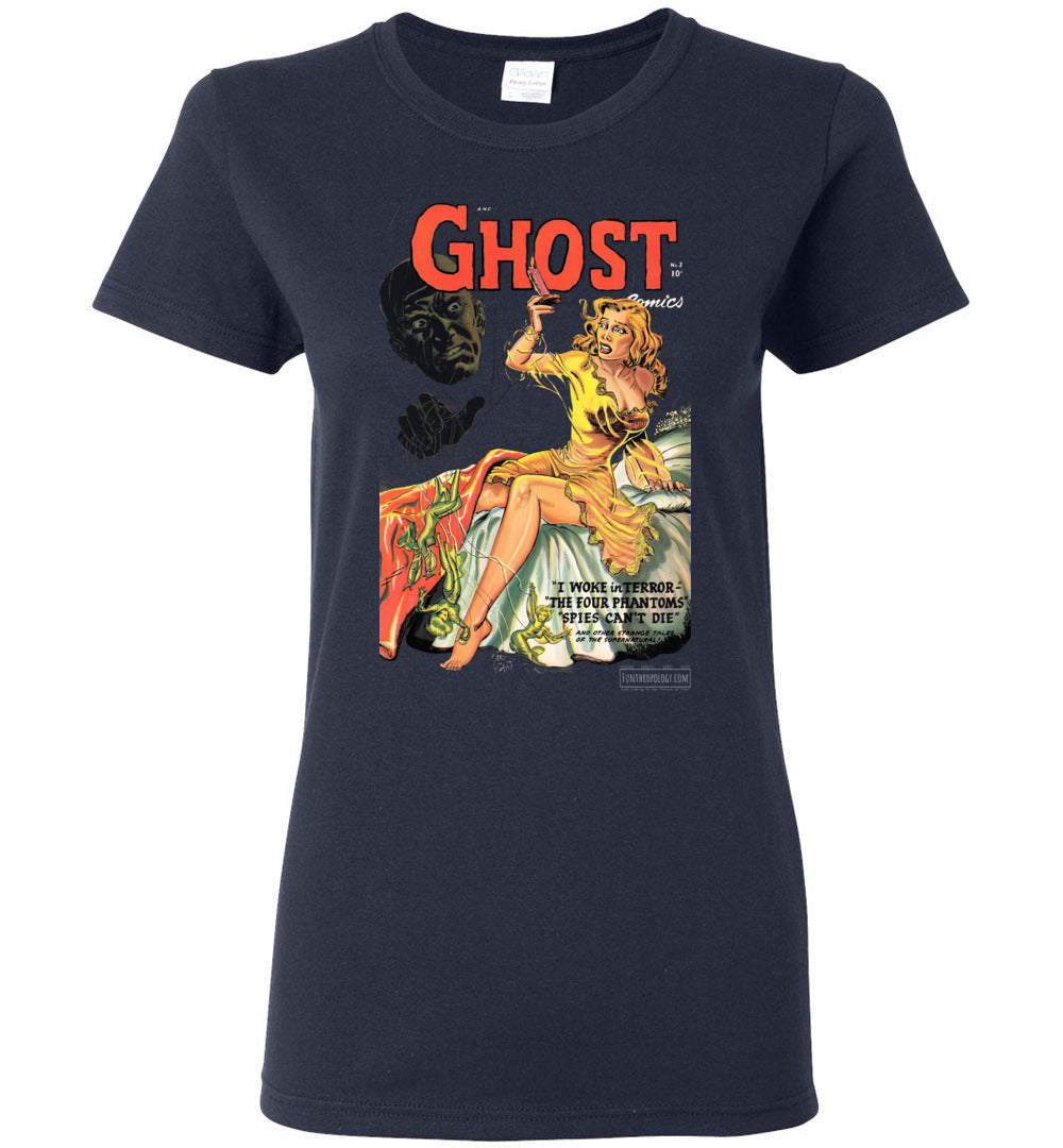 Ghost Comics No.2 T-Shirt (Womens, Dark Colors)