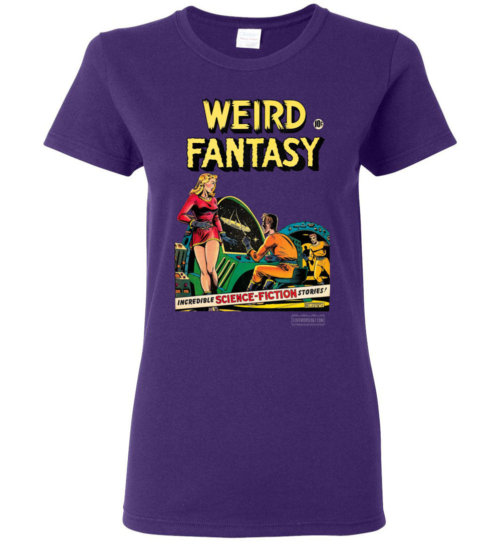 Weird Fantasy No.7 T-Shirt (Womens, Dark Colors)