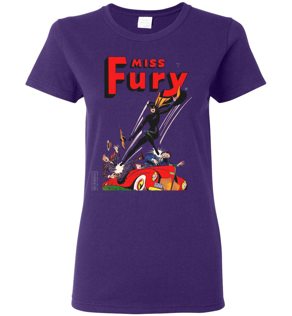 Miss Fury No.7 T-Shirt (Womens, Dark Colors)