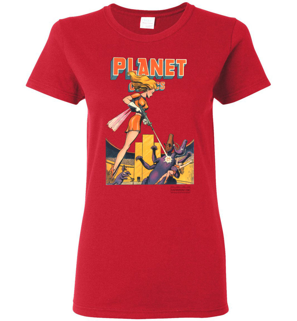 Planet Comics No.38 T-Shirt (Womens, Light Colors)