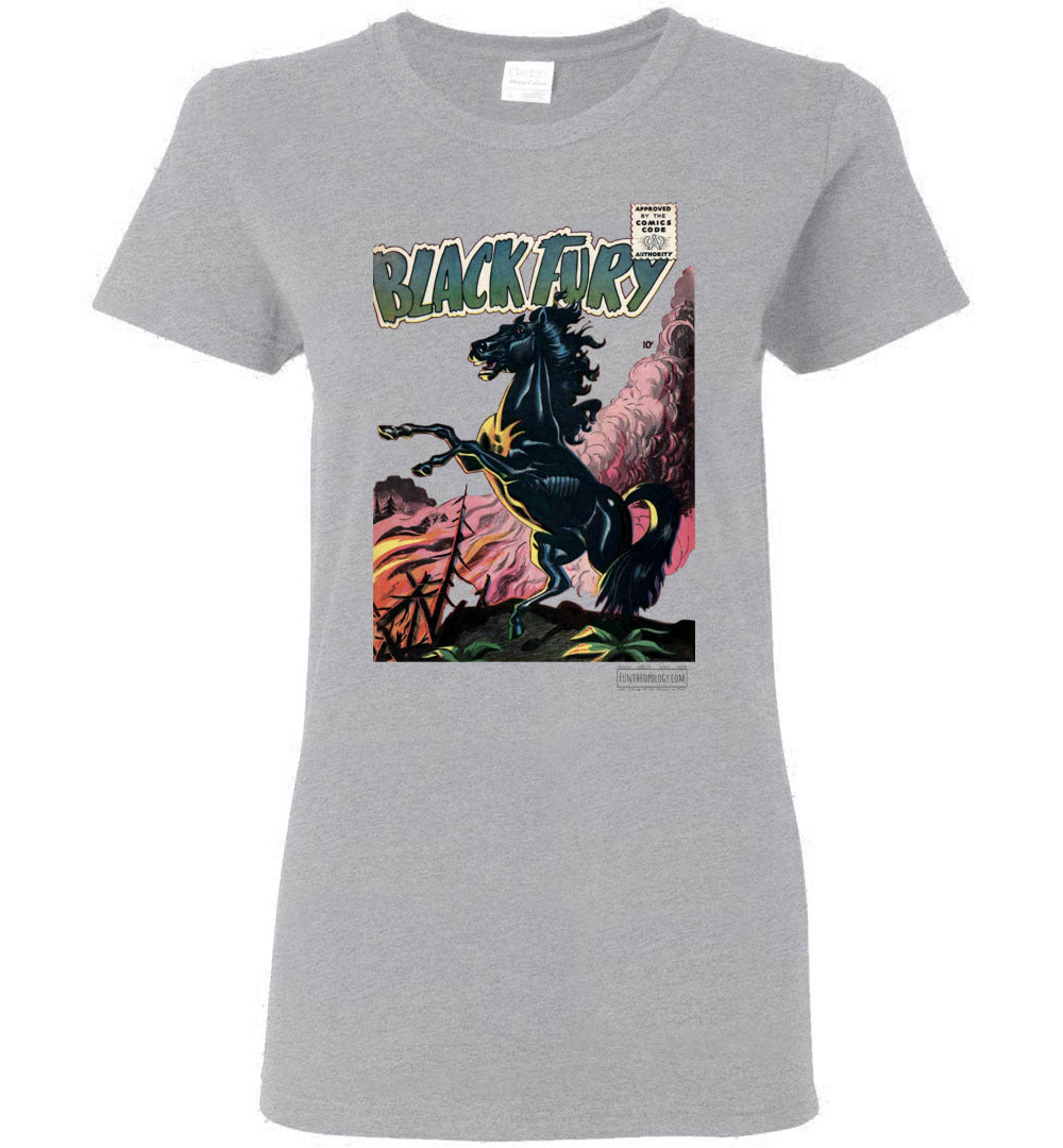 Black Fury No.1 T-Shirt (Womens, Light Colors)
