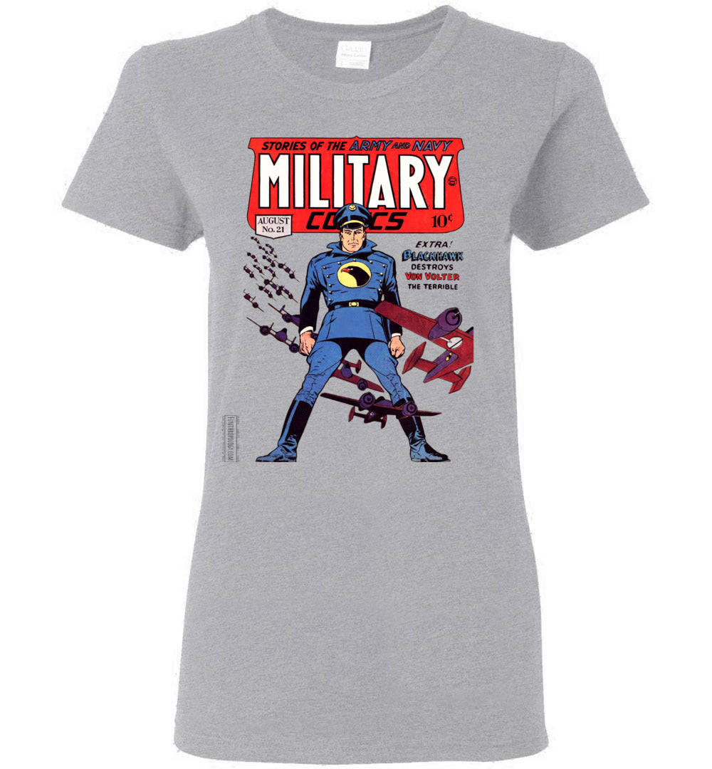 Military Comics No.21 T-Shirt (Womens, Light Colors)