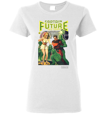 Captain Future No.12 T-Shirt (Womens, Light Colors)