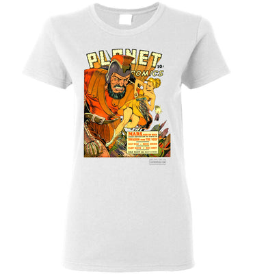 Planet Comics No.16 T-Shirt (Womens, Light Colors)