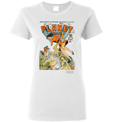 Planet Comics No.15 T-Shirt (Womens, Light Colors)